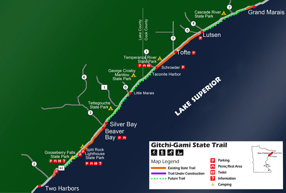 Gitchi Gami State Trail Map