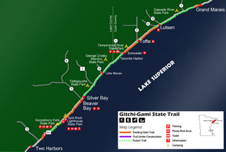 Gitchi Gami Trail Map